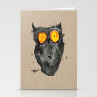 scary Stationery Cards featuring Scary owl by Bwiselizzy