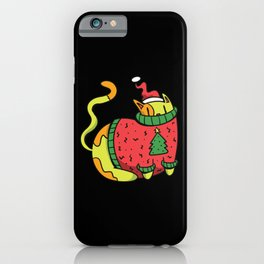 Cat Christmas Sweater iPhone Case