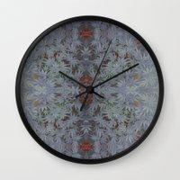 marijuana Wall Clocks featuring Marijuana print  by Kim Barton