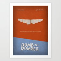 dumb and dumber Art Prints featuring Dumb and Dumber by rkbr