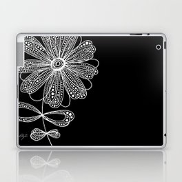 White Flower 4 Laptop & iPad Skin