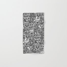 gargoyles black white Hand & Bath Towel