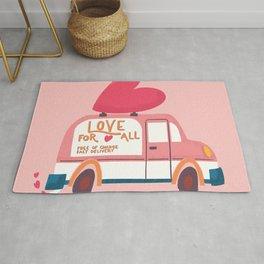 Love Truck, Happy Valentine's Day 2 Rug