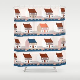A house by the sea Shower Curtain