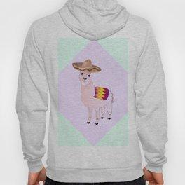 Cartoon Alpaca in Sombrero Hoody