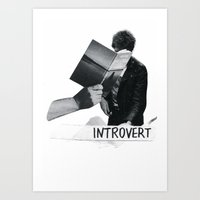 introvert Art Prints featuring introvert by singh✧bean