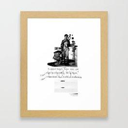Tragics 03 - The Boy is a VCR Framed Art Print