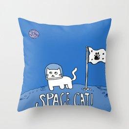 Space Cat! Throw Pillow