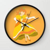 princess peach Wall Clocks featuring Princess Peach(Smash)Daisy by samaran
