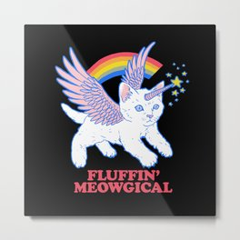 Fluffin' Meowgical Metal Print