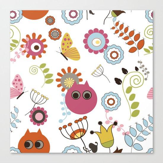 Owl in Pandora Canvas Print