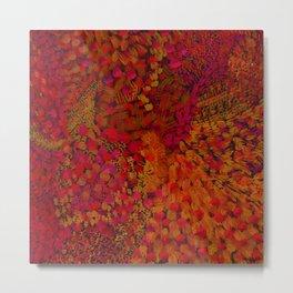 Crimson Watercolor Painting Metal Print