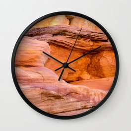 Colorful Sandstone, Valley of Fire State Park Wall Clock