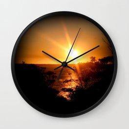 Sunset over the Limestone Coast - Australia Wall Clock