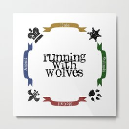Running With Wolves Metal Print