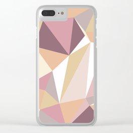 Geometric Art Pastel Color Clear iPhone Case