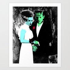 Spooky Prom Art Print