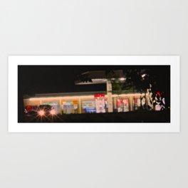 Gas Station @ 12:40 Art Print