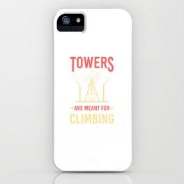 Tower Climber Climbing Cellular Site Technician iPhone Case