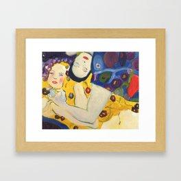 Klimt Girls Framed Art Print