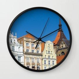 Downtown Rostock Wall Clock
