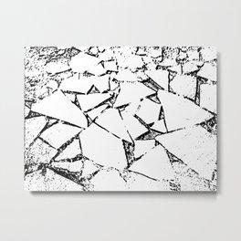 Ice Blocks black & white Metal Print