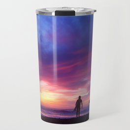 Surfer's Sunset Travel Mug