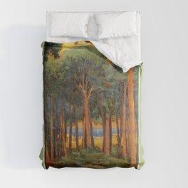 Viareggio woods and sea Comforters