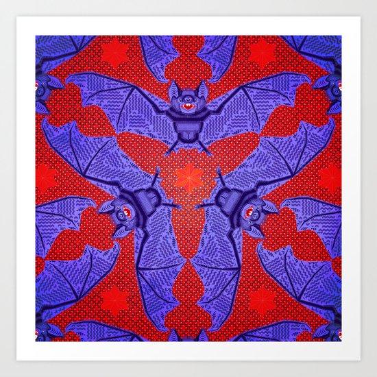 Vampire Blood Pattern Art Print