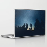 astronomy Laptop & iPad Skins featuring Follow the stars by HappyMelvin