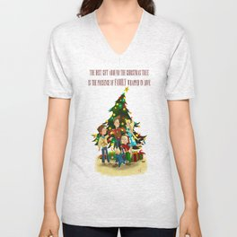 Family Christmas Unisex V-Neck