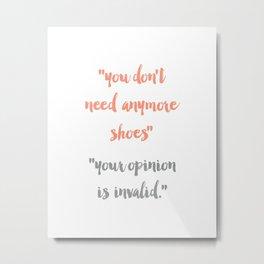 Shoe Convo - Typography Print Metal Print