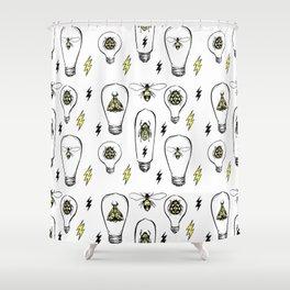 Bug Lights Shower Curtain
