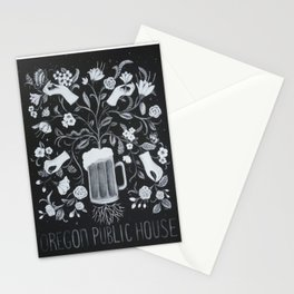 Oregon Public House Poster - 4 Stationery Cards