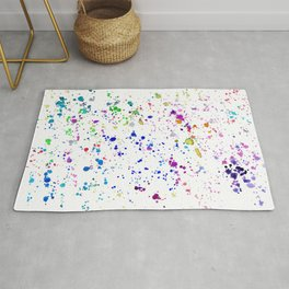 Colorful mess || watercolor Rug