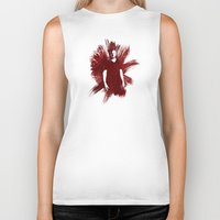 sam winchester Biker Tanks featuring Watercolor Sam Winchester by fairandbright