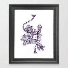 Doodle Blue Framed Art Print