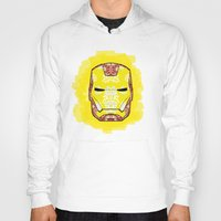 ironman Hoodies featuring Ironman by Dani Herrera