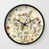 autumn Wall Clocks featuring Autumn by Kakel