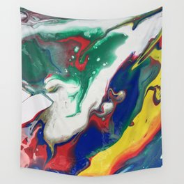 dirty pour iii Wall Tapestry