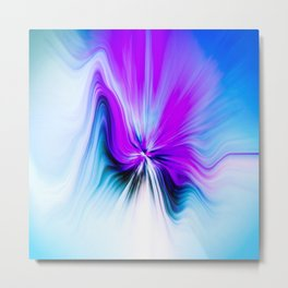 Abstract Moving Butterfly Design Metal Print