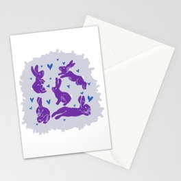 Bunny love - Purple Carrot edition Stationery Cards