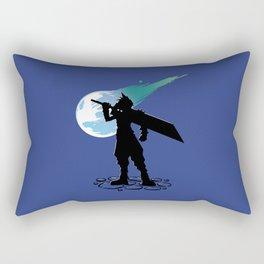 Cloud and the Meteor - Final Fantasy VII Rectangular Pillow
