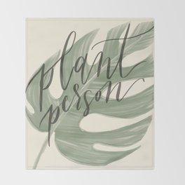 Plant Person Throw Blanket