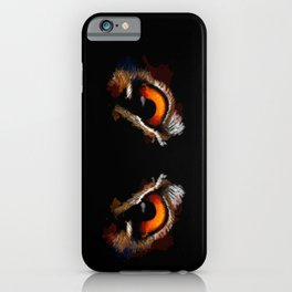 Owl Eyes - bird illustration, digital painting, animal art iPhone Case