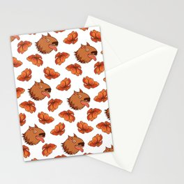 Pups and poppies Stationery Cards