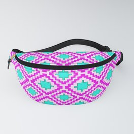 Cowgirl Pink and Turquoise Navajo Native Inspired Oklahoma Arizona Southwestern Design Pattern Fanny Pack