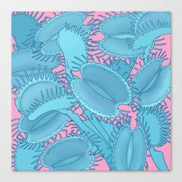 Free hugs (Venus Flytrap on pink) Canvas Print