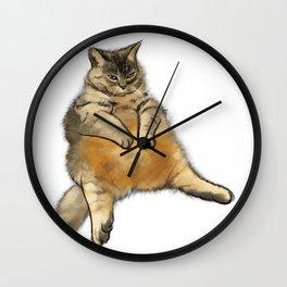 Judgemental cat Wall Clock