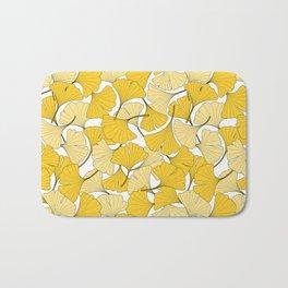 ginkgo leaves (yellow) Bath Mat